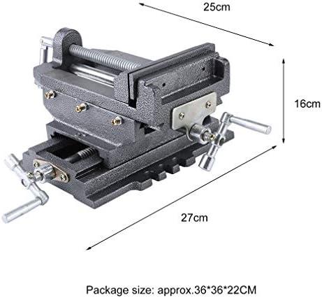 outad Máquina Tornillo de banco de 2 ejes para tornillo de cruz mesa mesa de fresado fresado Coordenadas mesa de banco: Amazon.es: Bricolaje y herramientas