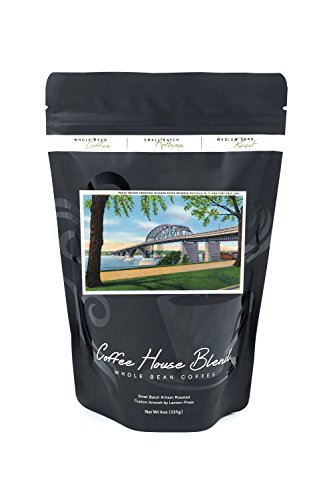 Buffalo, NY - Peace Bridge Crossing Niagara River View; Fort Erie, Ontario in Distance (8oz Whole Bean Small Batch Artisan Coffee - Bold & Strong Medium Dark Roast w/ - In Stores Erie