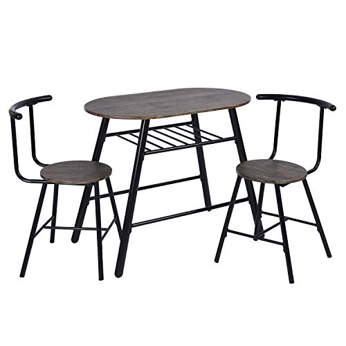 628577ce2a9e0 Bonnlo 5 Pieces Dining Table Set for 4 Glass Top Modern Dining Table ...