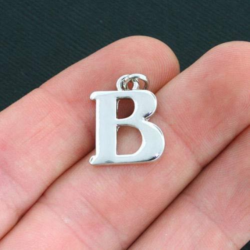 (4 Beta Greek Letter Charms Antique Silver Tone Sorority Fraternity SC4029 - for Jewelry Making Pendant Bracelet)
