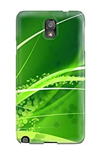 Charejen Case Cover For Galaxy Note 3 - Retailer Packaging Green Protective Case