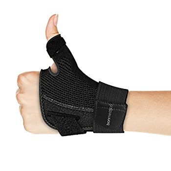 Bonmedico® Forte Flexible Thumb Brace With Splint, Wrist Wraps For Protection Of The Metacarpophalangeal Joint And Thumb Saddle, Ideal For Regenerative Treatment Of Thumb Injuries