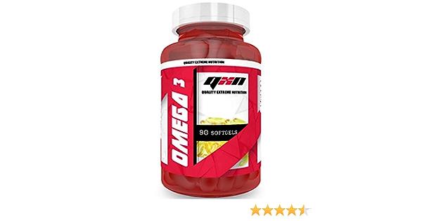QXN Omega 3 + Vitamina E 90 Cápsulas   Complemento Alimenticio con Omega 3 y Vitamina E, Reduce Colesterol, Ayuda Sistema Neurológico, Reduce ...