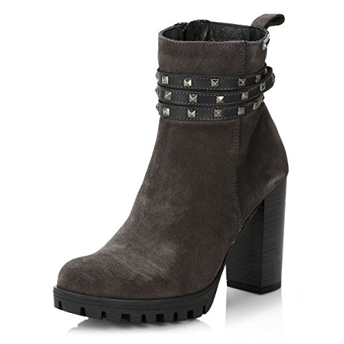 4ever young Womens Brooklin Suede Boots Grey