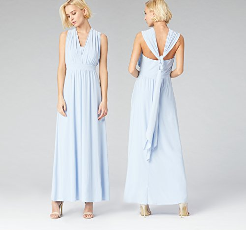 Fable Dress kentucky Blue amp; Jersey Truth Blu Maxi In Donna Cotone 54AtwSnx