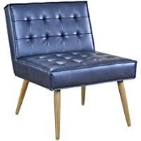 Ave Six Amity Turfed Accent Chair, Sizzle Azure