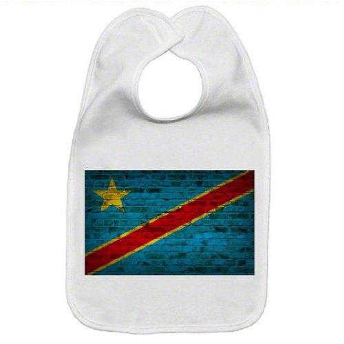 Congo Kinshasa Flag Brick Wall Design Baby - Kinshasa Flag Congo