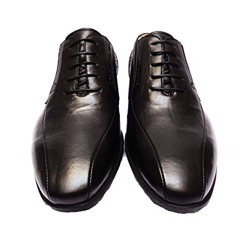 Nero Giardini 5110 scarpe classiche da uomo in pelle nappata col. Nero fondo in gomma leggera, num. 44