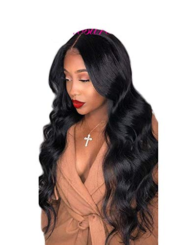 Lace Front Human Hair Wigs Pre Plucked Hairline Brazilian Body Wave Wig,Natural Color,12inches,220 density