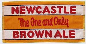 Brown Towel Bar - Newcastle Brown Ale Cotton Bar Towel (pp) by signs-unique