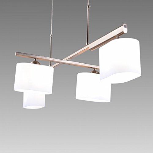 (DHG Nordic Postmodern Revolving Restaurant Chandelier Atmosphere Rectangular Square Dining Table Dining Room Simple Study Bar Bar Table Lamp,Figure)