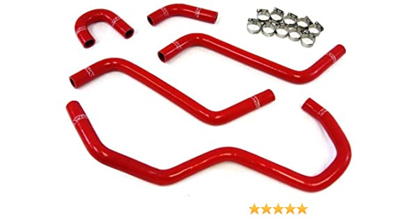 HPS Red Silicone Radiator Hose Kit Coolant OEM Replacement 57-1345-RED YRhino