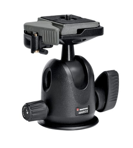 Manfrotto 496RC2 Ball Head with Quick Release Replaces Manfrotto 486RC2