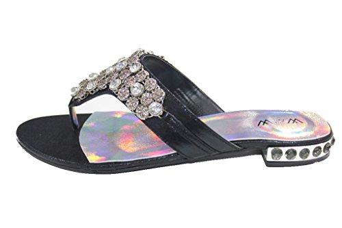 femme Sandales UK Walk Plateforme Wear Noir amp; a74fWac