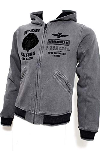 Militare Aeronautica Sudadera 34308 Grigio Hombre Gris HxpOA0
