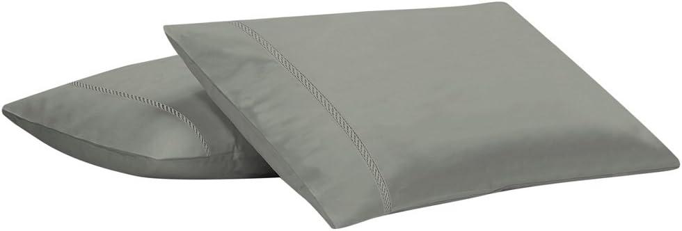 Livingston Home 1881 Livingston 400TC Pillowcases Silver,4-PCS, Pillow Case