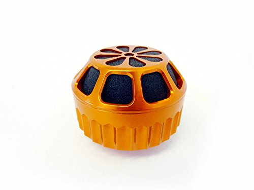King Motor CNC Orange Aluminum Air Filter Kit Fits HPI, KIng Motor and Rovan Baja Buggies and Trucks, and most 23cc to 30.5cc 1/5 scale vehicle engines