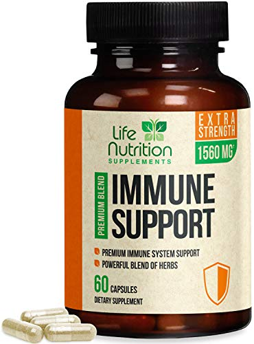 Immune Support Supplement Extra Strength 1560mg with Vitamins E and C – Made in USA – Premium Immune Support Vitamins…
