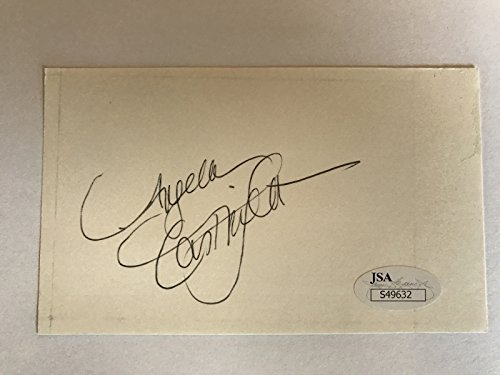 ANGELA CARTWRIGHT SIGNED 3X5 INDEX CARD JSA COA AUTOGRAPH LOST IN SPACE from Inscriptagraphs