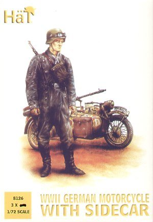 HaT 1/72 WWII German Motorcycles with side cars