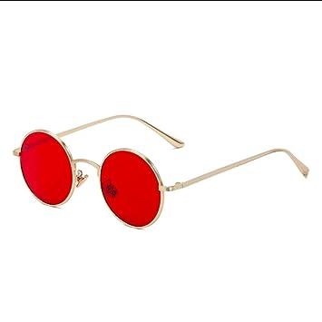 SHIYID Gafas de Sol para Hombres Gafas de Sol Redondas de ...