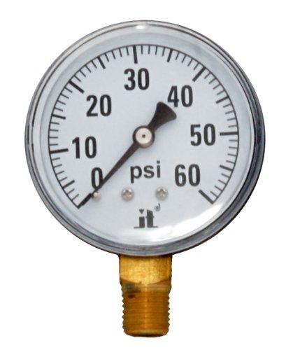 Pressure Dry Air - Zenport DPG60 Zen-Tek Dry Air Pressure Gauge, 60 PSI