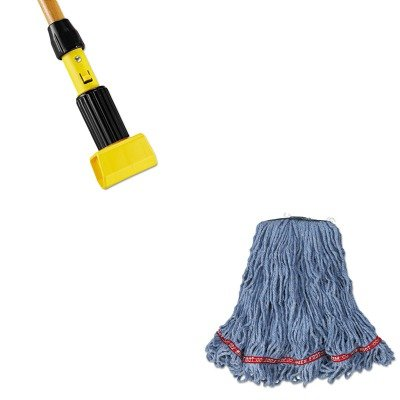 KITRCPA11206RCPH216 - Value Kit - Rubbermaid Web Foot Looped-End Wet Mop Head (RCPA11206) and Rubbermaid-Gripper Wet Mop Handle (RCPH216) by Rubbermaid