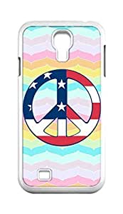 Cool Painting Peace Sign Snap-on Hard Back Case Cover Shell for Samsung GALAXY S4 I9500 I9502 I9508 I959 -1381