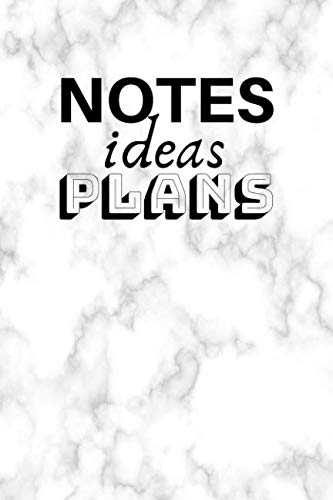 Notes Ideas Plans: Bullet Journal For Creative Writing (6×9 inch | dotted grid paper | Soft Cover | 100 Pages)
