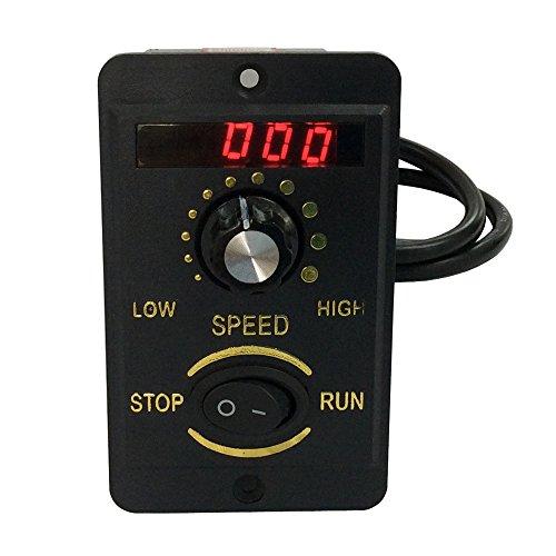 BEMONOC AC Electric Motor Speed Controller 6W/15W/25W/40W/60W/90W/120W/200W Digital Display 220V Electrical Speed Controller Unit for AC Motor Control - Motor Control Unit