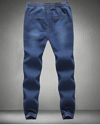 Di Pantaloni Jeans Colore Fit Fashion Saoye Straight Denim Uomo Casual Dunkelblau Regular In Slim Puro Stretch Giovane 7pPnqxU