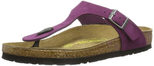 Birkenstock Thong ''Gizeh'' from Leather in Brombeere 35.0 EU W