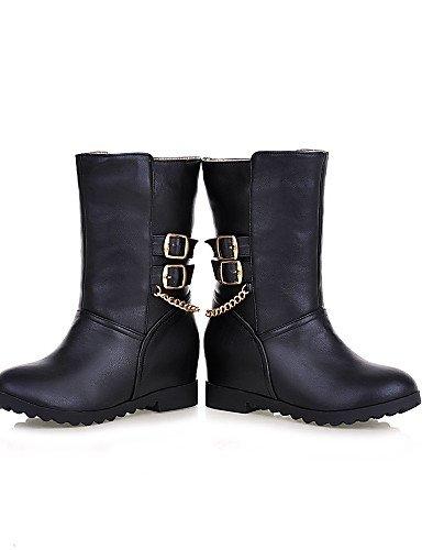 Eu36 Exterior Xzz Black Marrón La Y Uk3 De Zapatos us8 negro Uk6 Botas 5 Semicuero Comfort Cn39 Trabajo Plataforma Oficina Casual Brown Mujer 5 Cn35 Eu39 us5 A Moda zq4rBCz