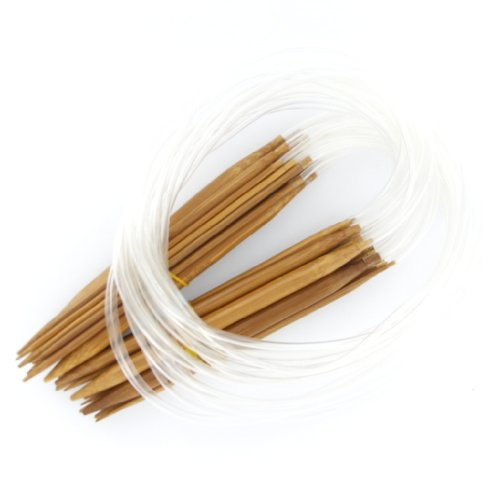 18 Größen 2.0mm-10.0mm 80 cm Bambus Rundstricknadeln