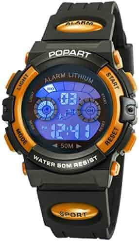 557d2d9ef Kid Watch for Child Boy Girl LED Multi Function Sport Outdoor Digital Dress  Waterproof Alarm Orange
