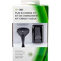 Kit Carga y Juega Bateria Recargable y Cable USB para Control Xbox 360, Carga y Juega Xbox 360