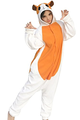 dressfan Animal Cosplay Costume Hamster Pajamas Women Girls , Orange , Small