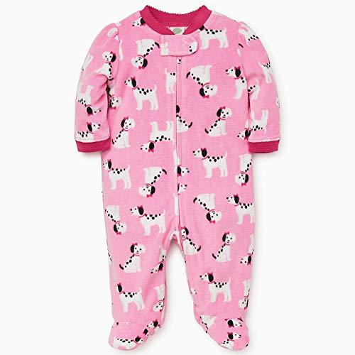 Little Me Baby Girl's Sleeper Sleepwear, dalmatian sachet pink/magenta, 6 Months -
