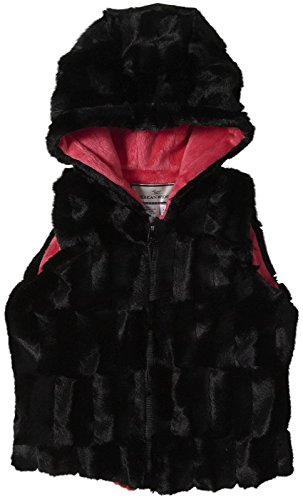 Widgeon Hooded Zip Vest (Toddler/Kid) - Black Sheared (Widgeon Saras Prints)