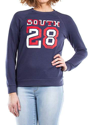 Femme Bleu Pour Tissu 869 685 Taille Extensible Longue Carrera Manche Jeans Imprimé shirt Normale Sweat Style wqIxAxXZS