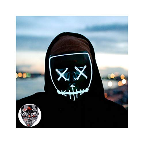 Light up Mask Led Mask Halloween Mask Led Mask Light up Mask Scary Mask for Festival Cosplay Halloween Costume Party -