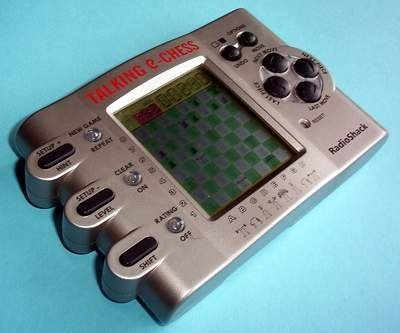 Handheld Electronic Chess Game (RadioShack Handheld Game - TALKING E-CHESS - Cat. No 60-2846 - Includes Instructions)