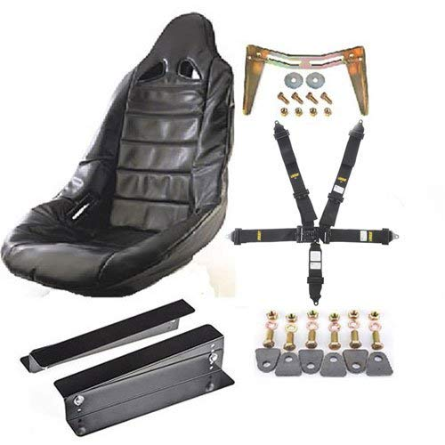 JEGS 70250K15 Pro High Back II Race Seat Kit Includes: Black Seat Black Seat Cov