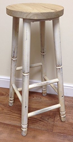 Incredible Elm Barstool Whitewashed Vintage Shabby Chic Stool With Machost Co Dining Chair Design Ideas Machostcouk