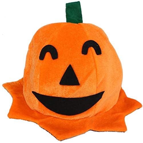 Baigoods Wholesale Cos Halloween Pumpkin hat Pumpkin Motifs Lint Top Orange Hats -