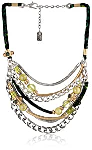 "Kenneth Cole New York ""Metal Mix"" Mixed Metal Multi-Chain Necklace, 19"""