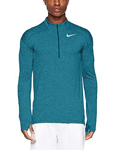 - Nike Mens Dry Element 1/2 Zip Running Top (Medium, Heather Teal)