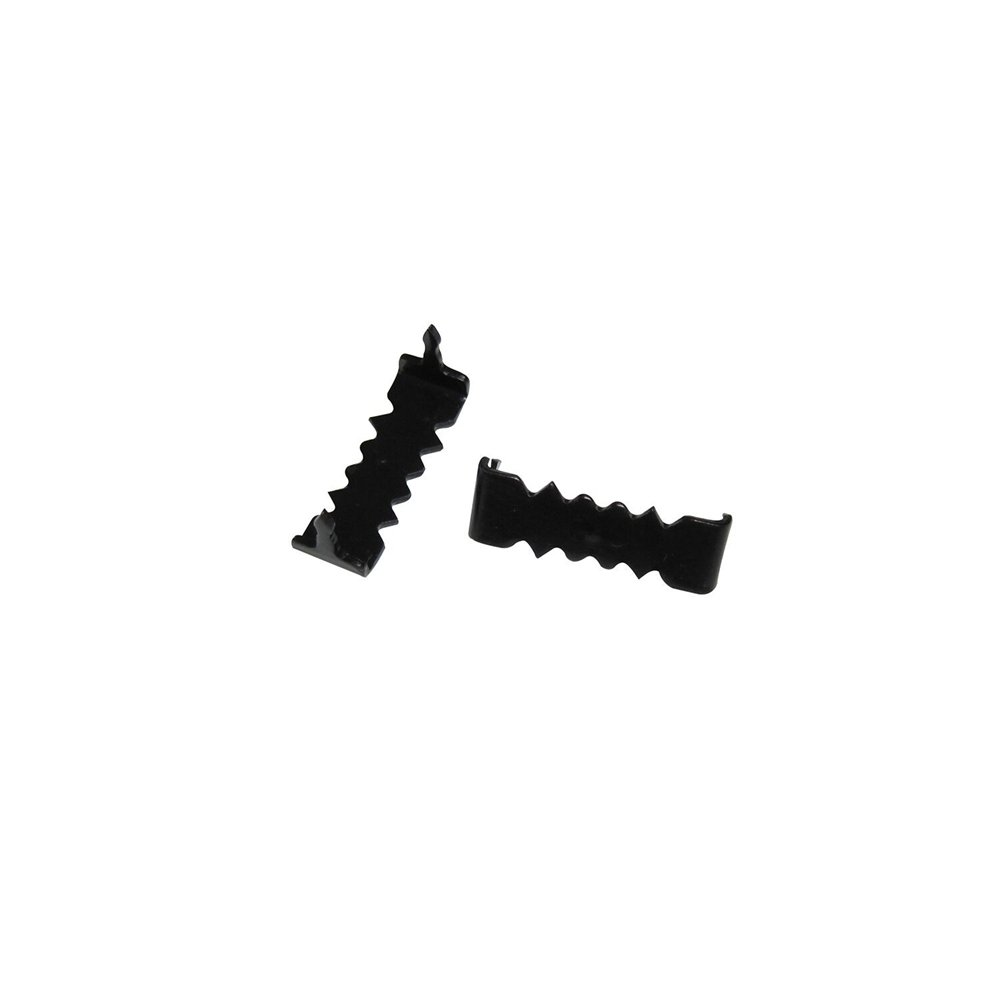 Sawtooth Picture Hangers No Nail - 1000 Pack - 1 Inch - Black - Bulk 1000 Pack