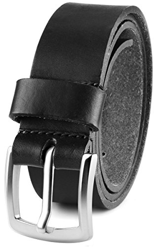 Mens Casual Full Grain Classic Leather Dress Belt For Jeans,1.5 Wide USA