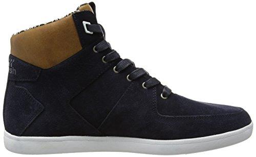 Boxfresh Camberwell Inc Sde/Lea Nvy/Tan - Zapatillas altas Hombre Azul - Blau (NAVY/TAN)